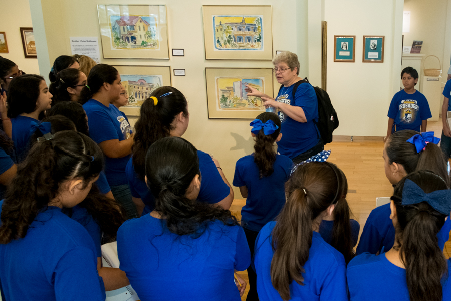 Students enjoying a guided tour of the Republic of the Rio Grande Museum