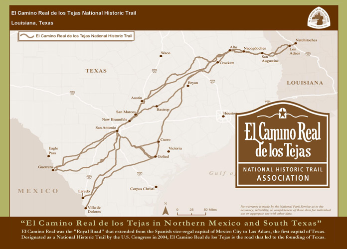 El Camino Real de los Tejas in Nothern Mexico and South Texas